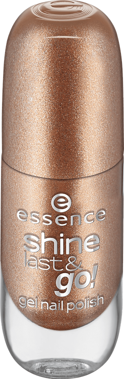essence cosmetics shine last & amp; go! gel nail polish gold 40, 8 ml