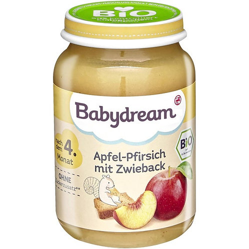 Baby Organic Apple Peach with rusks 190g
