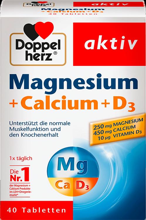 Magnesium + Calcium + Vitamin D3 tablets 40 pieces, 73.5 g