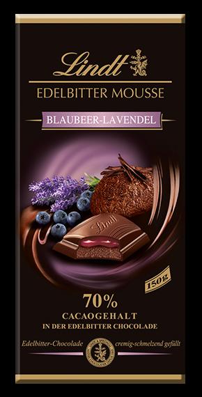 PRECIOUS BITTER BLUEBERRY MOUSSE-LAVENDER, 150g
