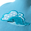 Thumbnail: Children's Hot Water Bottle Cover, whale, 1 pc
