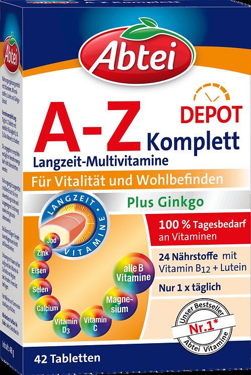 Multivitamins A-Z Complete + Ginkgo, 42 pcs
