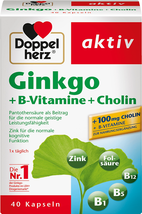 The Best Ginkgo + B vitamins + choline capsules 40 pieces, 22.2 g