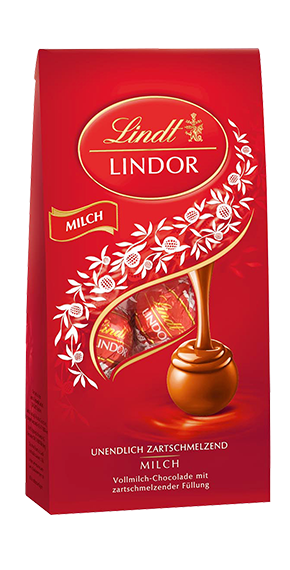 LINDT PREMIUM LINDOR BALL BAG MILK, 137g