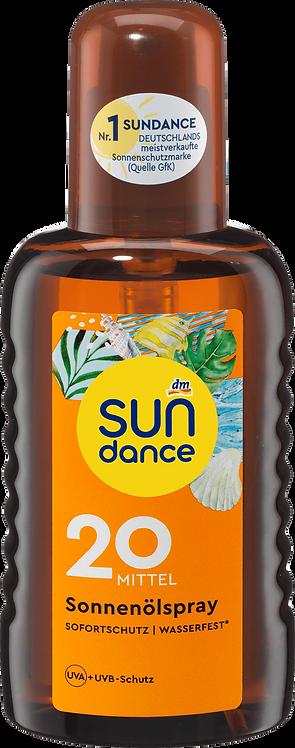 Sun Tanning Oil Spray SPF 20 UVA + UVB Filter Protection, 200 ml