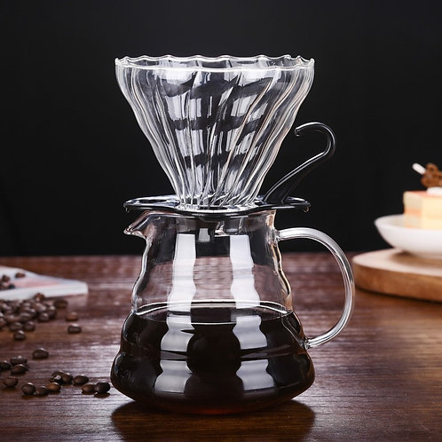 Coffee Filter Funnel Reusable Glass Coffee Filter