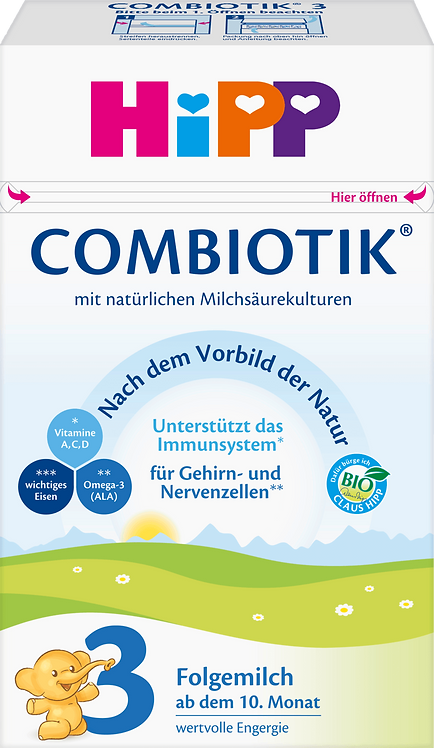 HiPP Stage 3 Combiotic Follow-on Infant Milk Formula from the 10th month, 600 g