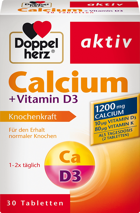 Best Calcium + Vitamin D3 tablets 30 pieces, 59.8 g