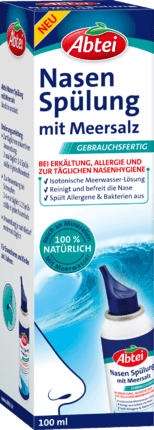 Nasal Rinse with sea salt Cleans & frees the Nose Fast, 100 ml