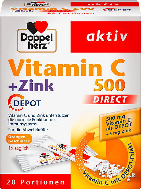 Vitamin C plus Zinc direct depot direct granules 20 pieces, 32 g