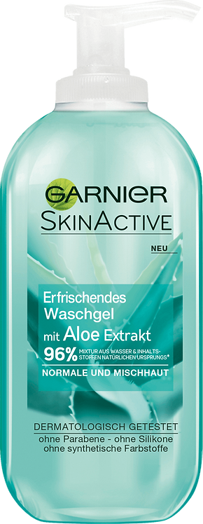 Garnier Skin Active Refreshing Wash Gel Aloe Extract, 200 ml