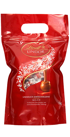 LINDT PREMIUM LINDOR BALL BAG MILK, 1000g