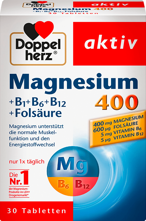 Magnesium 400mg tablets 30 pieces, 38.1 g