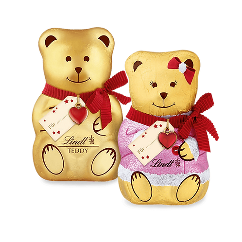 Children Premium Chocolate Christmas Teddy Girls and Boys  with Card 100g
