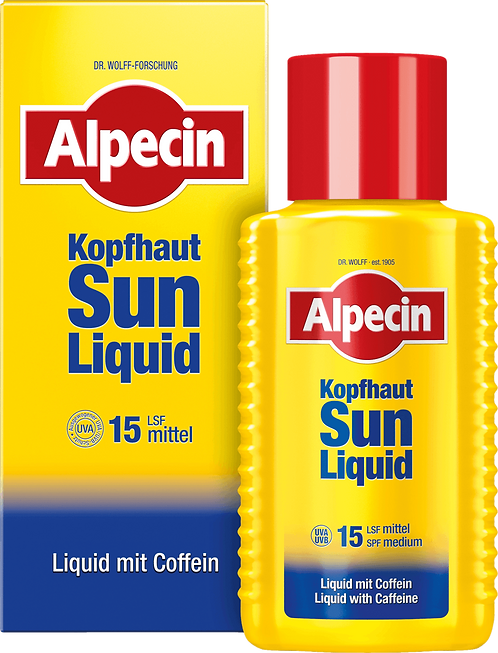 Alpecin Hair Water Scalp Sun-Liquid with SPF15 & Caffeine, 190 ml