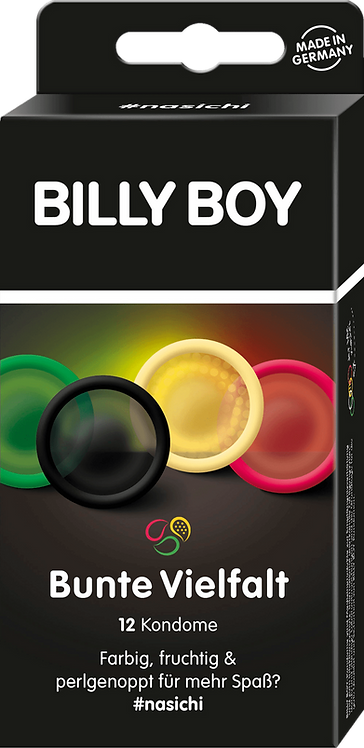 BILLY BOY Condoms Colorful variety, 12 pcs