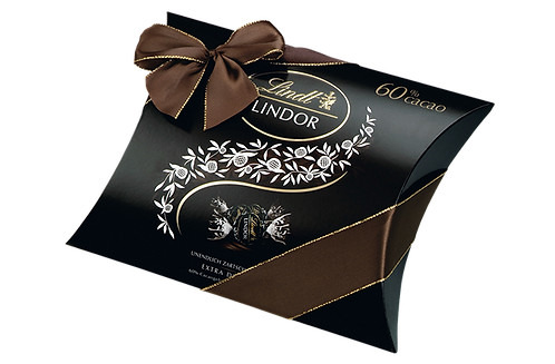 LINDT PREMIUM LINDOR CUSHIONING PACK DARK 60% CHOCOLATE, 322g
