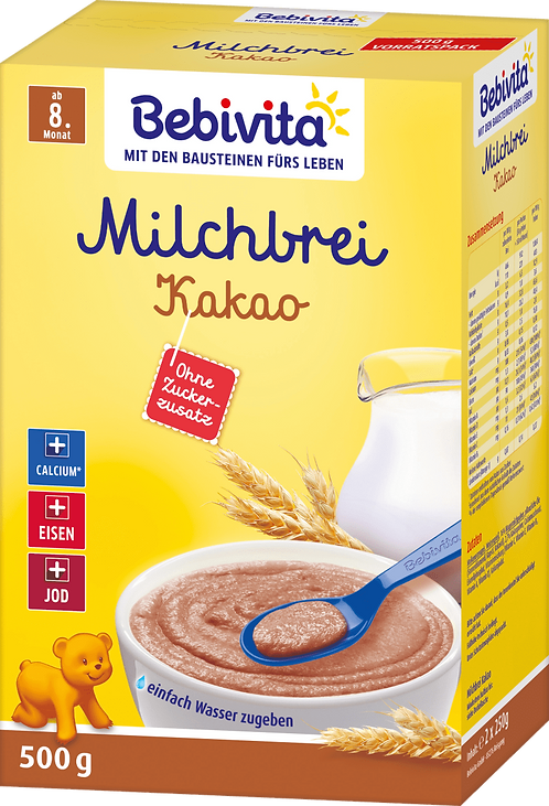 Evening porridge milk cocoa from the 8th month, 500 g