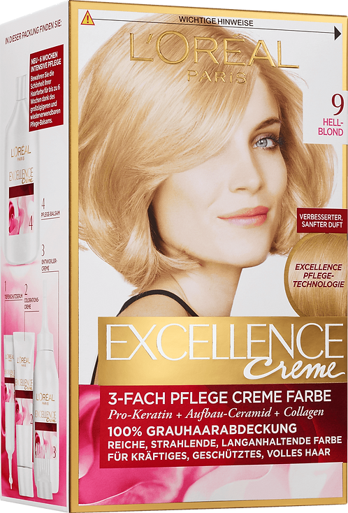 Excellence Coloration Lightblond 9, 1 pc