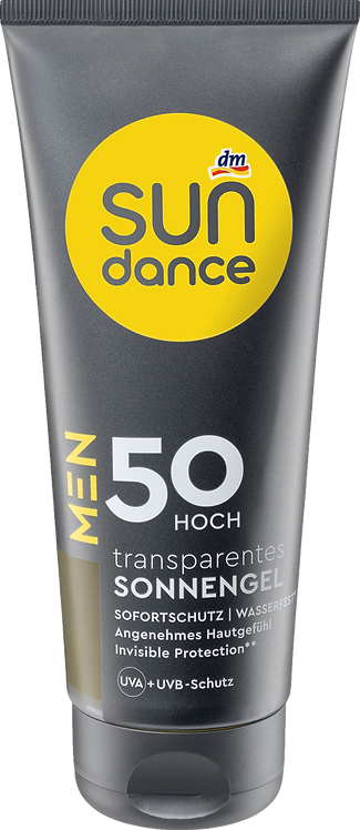 MEN Sun Gel Transparent SPF 50 UVA + UVB Protection with Vitamin E , 200 ml