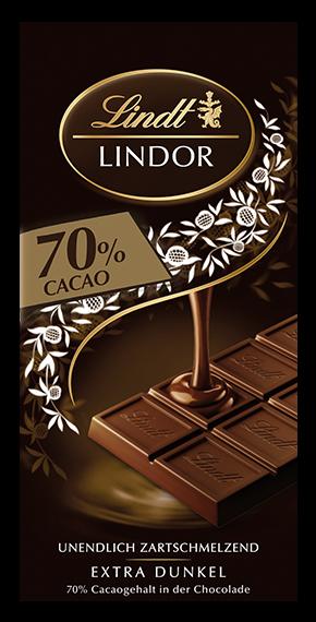 LINDT PREMIUM LINDOR DARK 70% CHOCOLATE, 4 Packs 400g