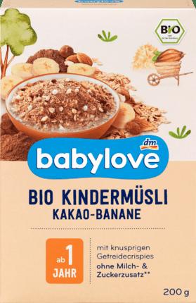 Organic children's cereal cocoa-banana, 200 g