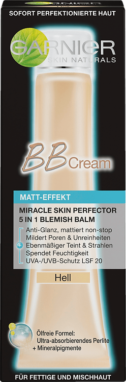 Garnier Toned Day Cream BB Cream Matt-Effect Light, 40 ml