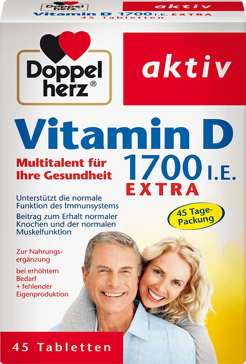 Vitamin D, 1700 IU Tablets, 45 pcs