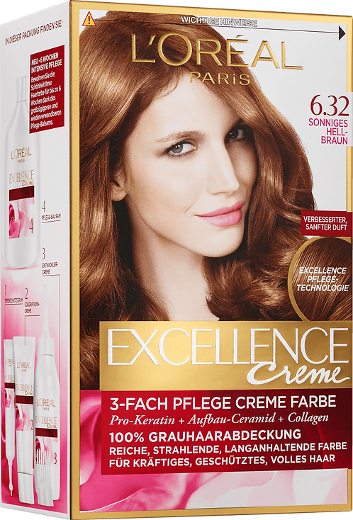 Excellence Coloration Sunny Light Brown 6.32, 1 pc