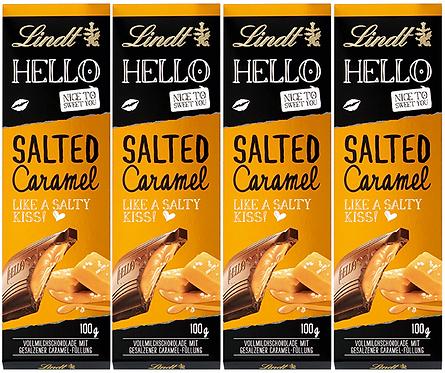 LINDT HELLO SALTED CARAMEL, 4 Packs,100g