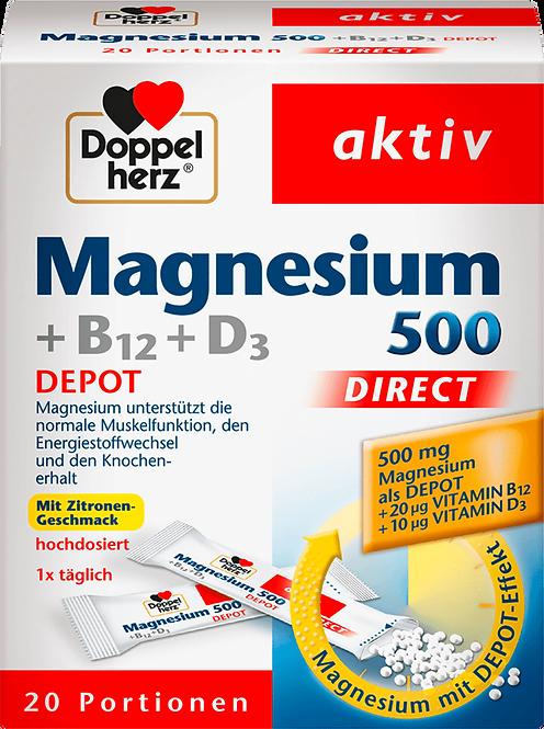 Magnesium Plus D3 with B12 direct granules 20 pieces, 32 g