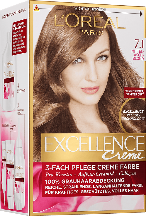Excellence Coloration center tab Blonde 7.1, 1 pc