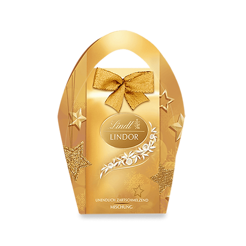 Christmas Gift Chocolate Lindor Xmas bag mix, 2 x 62g