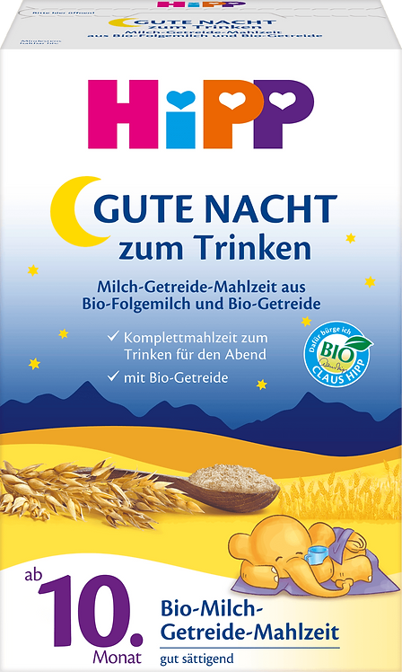 HiPP Good Night Milk Cereal Meal from 10th Month, 0.5 kg