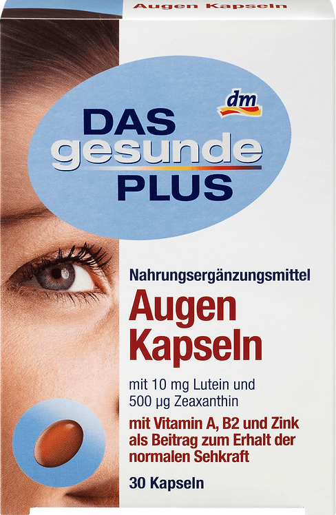 Eye Vitamin B + A Capsules, 30 pcs