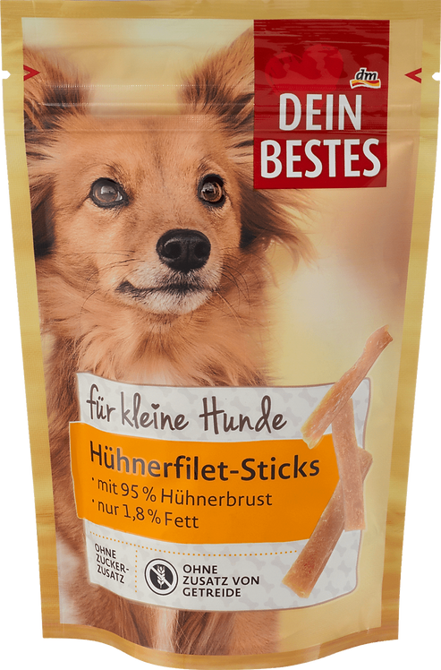 Snack for dogs, chicken fillet sticks for small dogs, 80 g