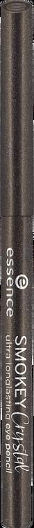 essence cosmetics Kajal smokey crystal ultra longlasting eye pencil black 01, 0.