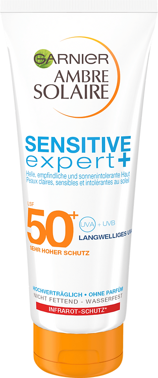 Garnier Sun Milk Sensitive Expert SPF 50+, 200 ml