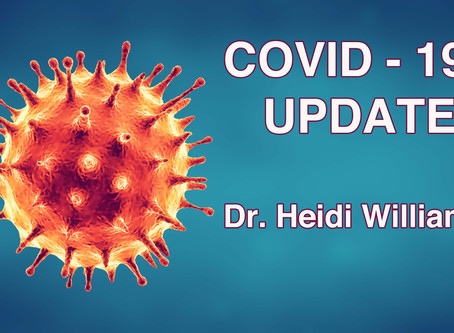 Tuesday May 26 - Update from Dr. W