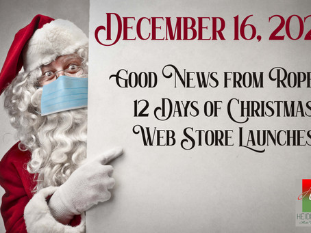 Good News from Ropers, and the 12 Days of Xmas continue!