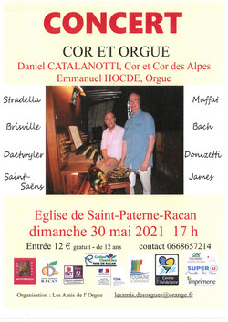 Concert 30 mai St Paterne