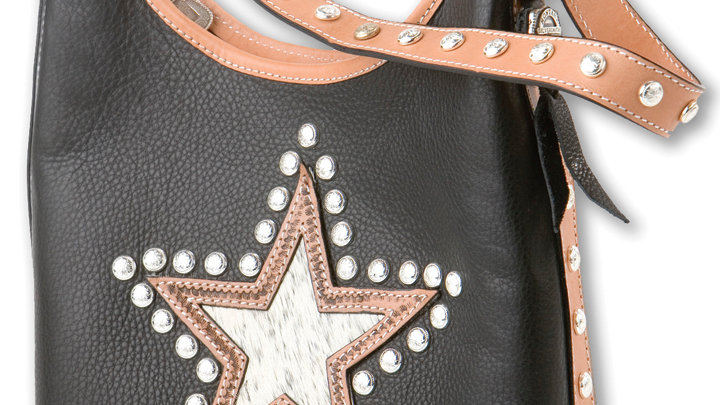 2 Compartment Tote/Bucket Bag BLK Star ~by MT Silversmiths