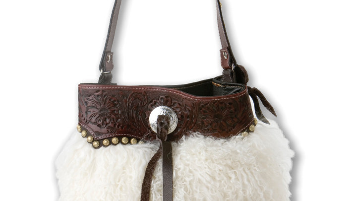 Wooly 2-Compartment Bucket Bag ~by MT Silversmiths