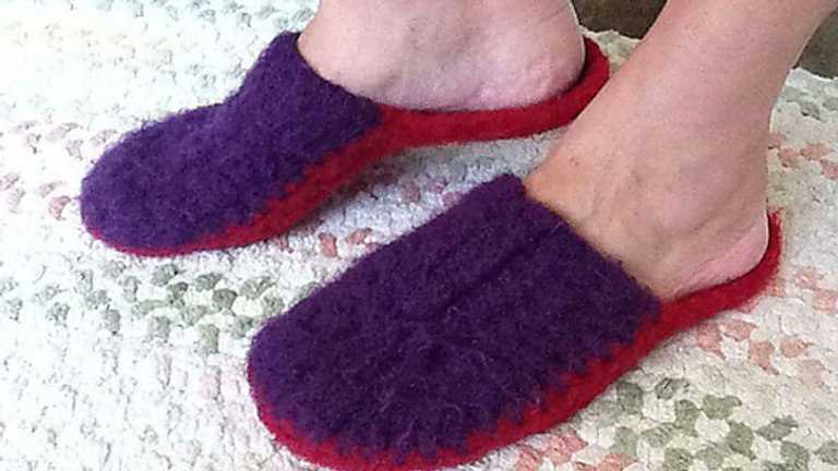 8 Row Felted Slippers! Crochet Scuffies