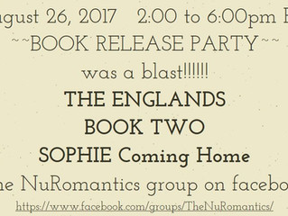 Book Release Event - THE ENGLANDS Book Two: SOPHIE Coming Home