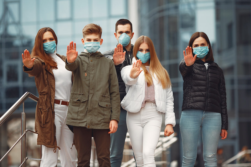 people-wearing-protective-masks-are-show