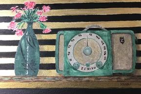 Japanese Vase and Green Radio