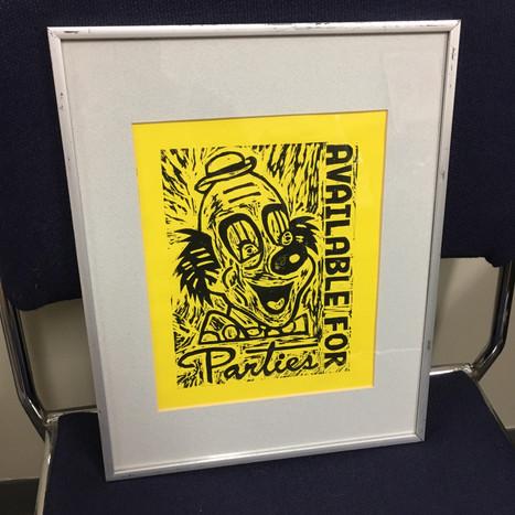 Framed Woodcut Print