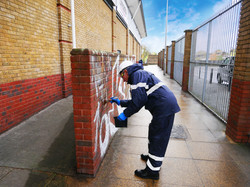 Graffiti Cleaning Wall