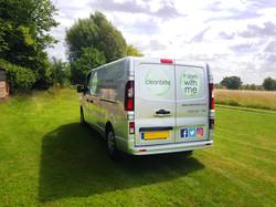 Van Outside Office Back